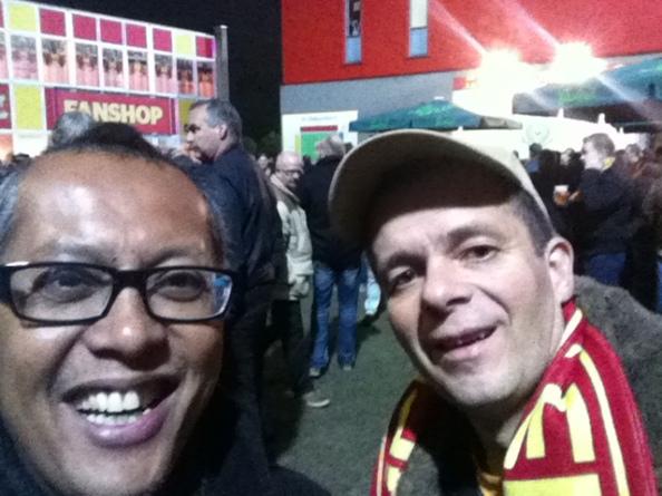 Samen met buurman Ramon naar The Eagles